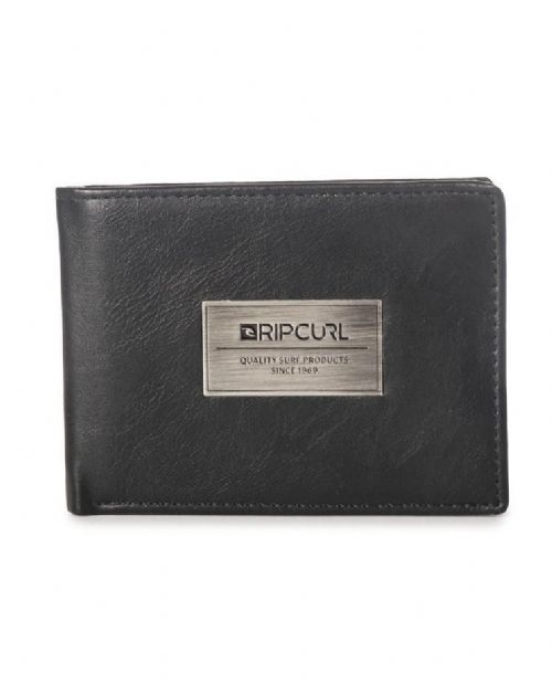 RIP CURL MENS WALLET.HEAVY METAL BLACK FAUX LEATHER CREDIT CARD PURSE 7S UFB3 90